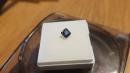 1st shot of finished princess cut sapphire
