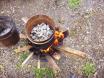 roasting quartz